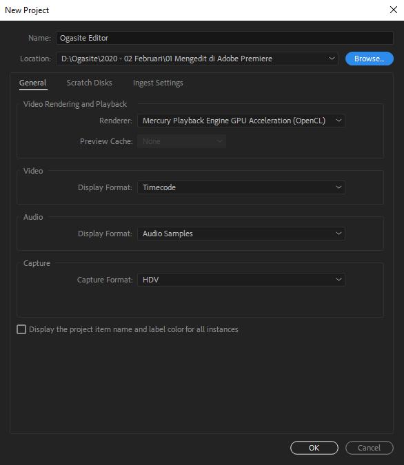 Cara Membuat Project di Adobe Premiere