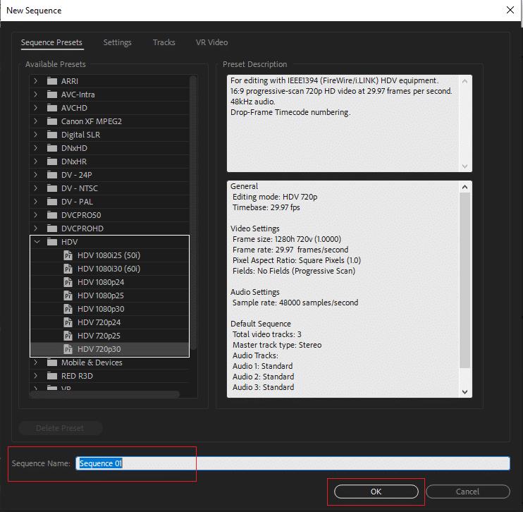 Cara Membuat Squence di Adobe Premiere