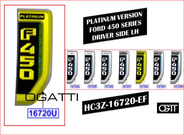 Brand New OEM NAME PLATE HC3Z-16720-EF |16720|