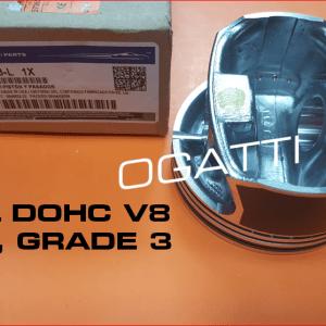 Brand New OEM Timing Chain Kit Pistons Grade 3 for 6.2L V8 2V DOHC, 49 Pieces, Engine Repair Kit (OG-60-6.2L-49)