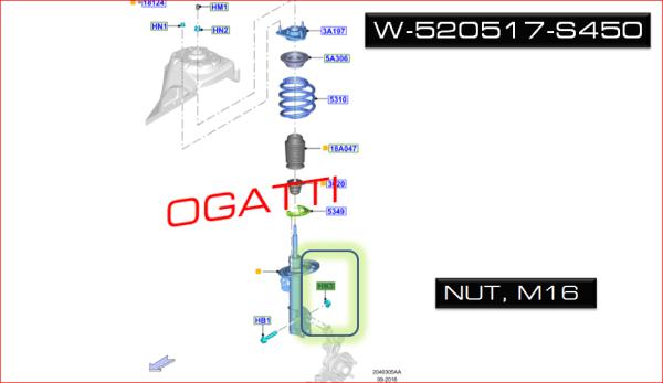 Brand New OEM NUT – HEX. – FLANGED W520517-S450 |W520517|