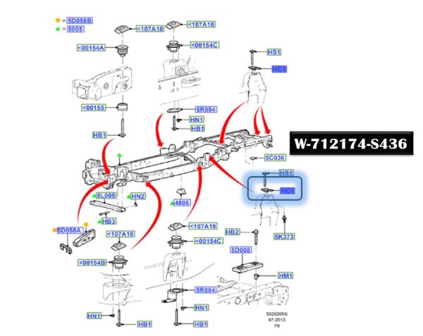 Brand New OEM NUT W712174-S436 |W712174|
