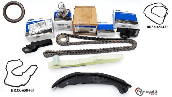 Brand New OEM Timing Chain Kit 3.5L DOHC VCT, 10 Pieces, Engine Repair Kit (OG-60-3.5L-10-1)