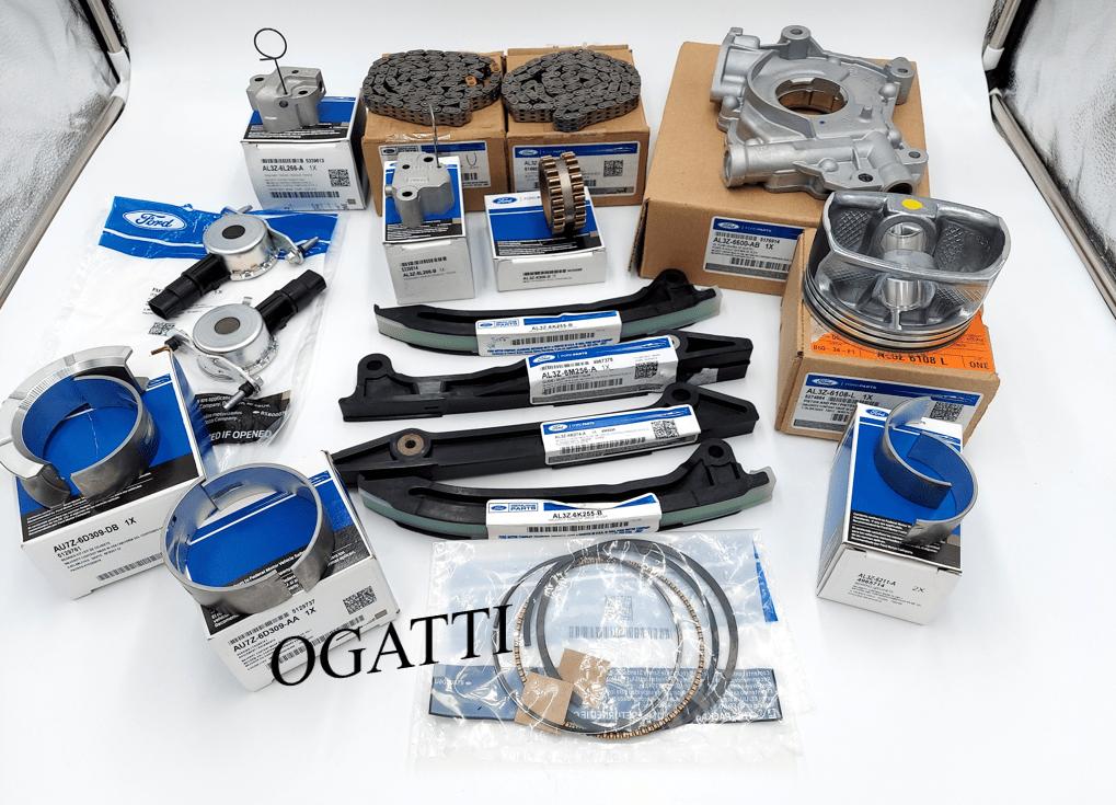 Brand New OEM Timing Chain Kit Pistons Grade 2 6.2L V8 2V DOHC, 49 Pieces, Engine Repair Kit (OG-60-6.2L-49-2)
