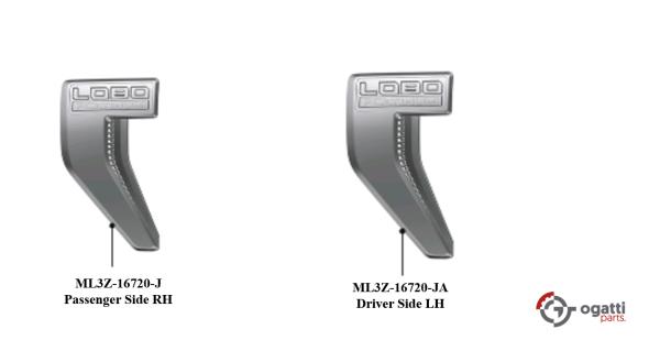 Brand New OEM NAME PLATE F-150 LOBO Platinum Version 2021 KIT RH-LH (OG-F150-2020-2-13)