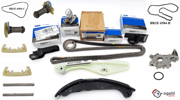 Brand New OEM Timing Chain Kit 3.5L DOHC VCT, 17 Pieces, Engine Repair Kit (OG-60-3.5L-17-2)