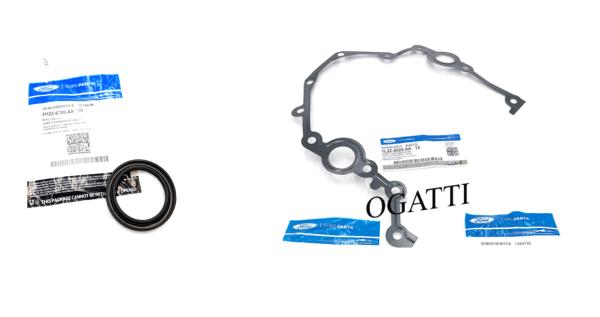 Brand New OEM Seal Crankshasft Oil Front and Gasket 4.0L, 2 Pieces Engine Repair Kit (OG-60-4.0L-2-10)
