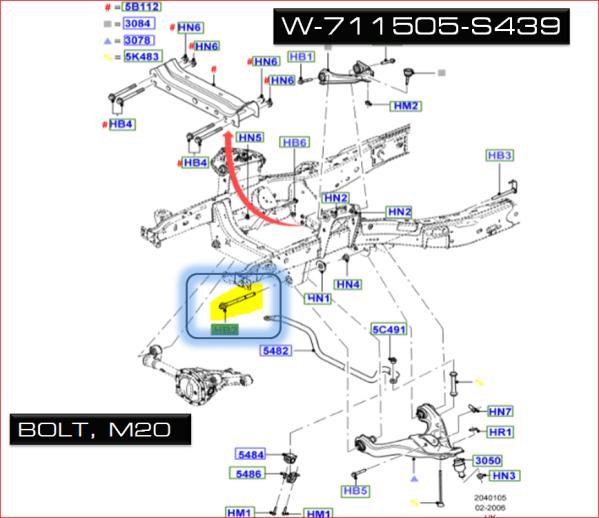 Brand New OEM BOLT – FLANGED HEX. W711505-S439 |W711505|
