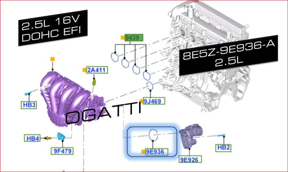 Brand New OEM GASKET (8E5Z-9E936-A) (8E5Z9E936A)
