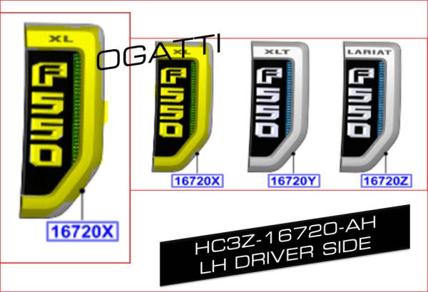 Brand New OEM NAME PLATE HC3Z-16720-AH |16720|