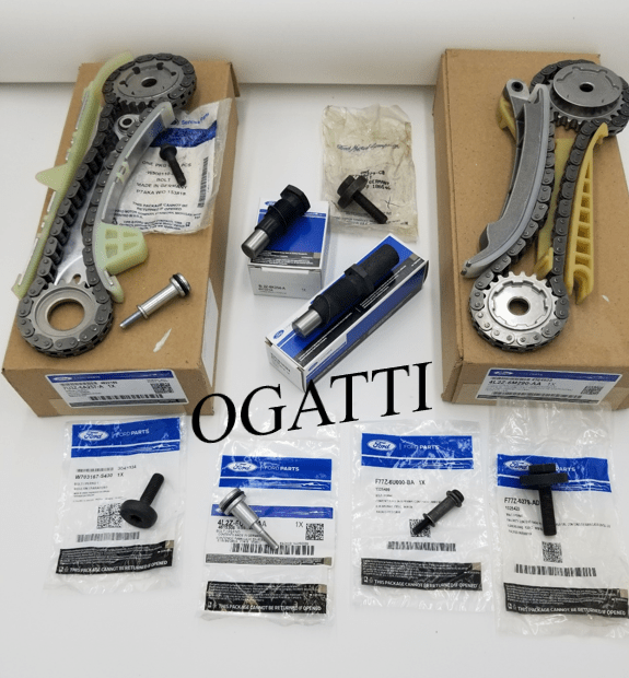 Brand New OEM Timing Chain Cassette with Tensioners and Bolts 4.0L V6 12V SOHC EFI, 10 Pieces Engine Repair Kit (OG-60-4.0L-10-4)