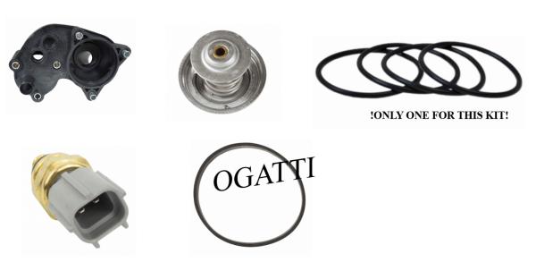 Brand New OEM Cooling Systems Thermostat, Base, Sensor 4.0L, 5 Pieces  Repair Kit (OG-80-4.0L-5-1)