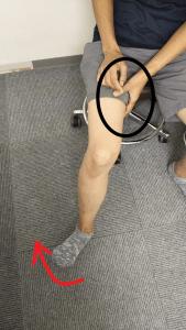 膝外旋の写真