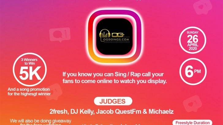 OGdoings Instagram Live Freestyle Challenge.