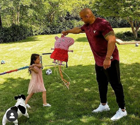 The rock dodges the daughter's question with a dropsy…