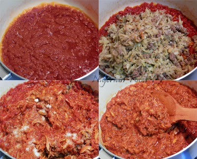 minced meat and cabbage stew 2