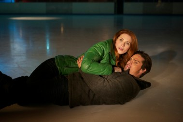 "Beauty and the Beast -- ""On Thin Ice"" -- Pictured (L-R): Bridget Regan as Alex and Jay Ryan as Vincent -- Image Number: BB110a_0051r.jpg -- Photo: Sven Frenzel/The CW -- © 2012 The CW Network. All Rights Reserved."