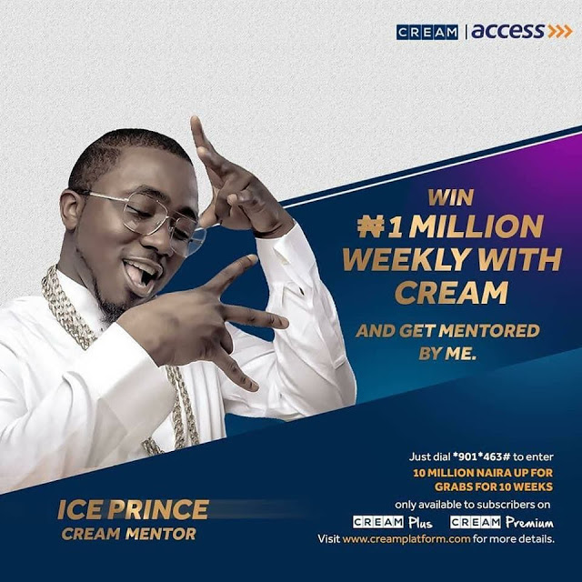 10 MILLION NAIRA UP FOR GRABS IN THE CREAM TALENT HUNT #ACCESSBANK.