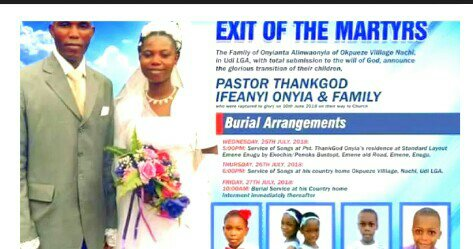 (+PICTURES)ABOUT THE DEATH OF REDEEM PASTOR, HIS WIFE&5KIDS