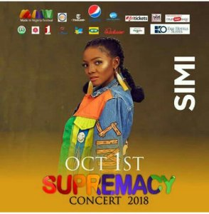 OCT 1ST SUPREMACY CONCERT 2018; IT IS SIMI LIVE!