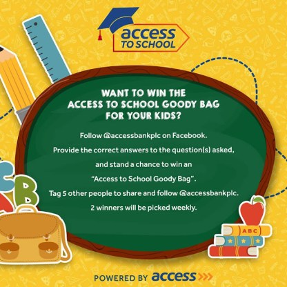 Access school goody bag 1