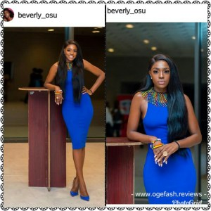 BEVERLY OSU LOOKS STUNNING IN THIS  SOUTHAFRICAN MADE DRESS!