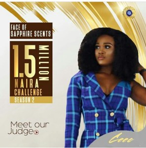#BBNAIJA CEEC LANDS NEW ENDORSEMENT DEAL; NOW THE NEW FACE OF SAPPHIRE SCENTS…