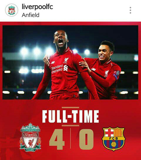 You are currently viewing LIVERPOOL FINALLY GOT THE LIVER TO PULL A GOAL! BUT BARCELONA AHAH! BARCA MENENE WANNAN?