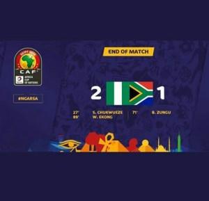 O FE JI CHAMPION, OYA FI WERE PORT! UP NAIJA! NIGERIA: 2~ SOUTHAFRICA: 1