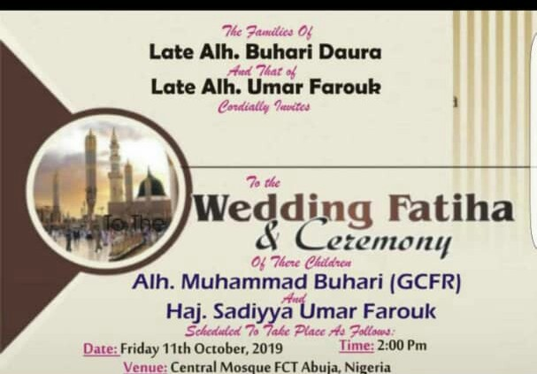COULD THIS BE NIGERIA'S PRESIDENT~ MUHAMMAD BUHARI'S ANOTHER WEDDING OR…