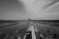 zicht op Mont Saint-Michel