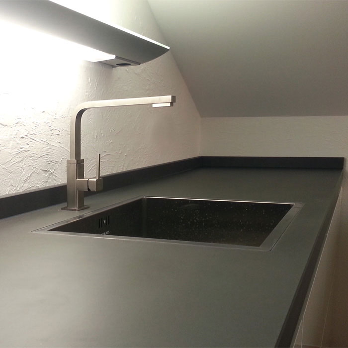 Beton Küchenarbeitsplatte OGGI Beton, Detail