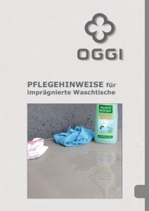 OGGI-Beton: Katalog-PDF Pflegehinweise für imprägnierte Küchenarbeitsplatten