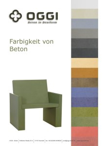 OGGI-Beton: Katalog-PDF Farbigkeit von Beton