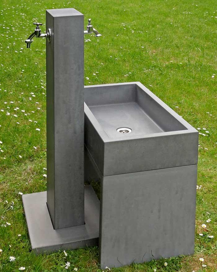 Wasserzapfstelle Im Garten Oggi Beton