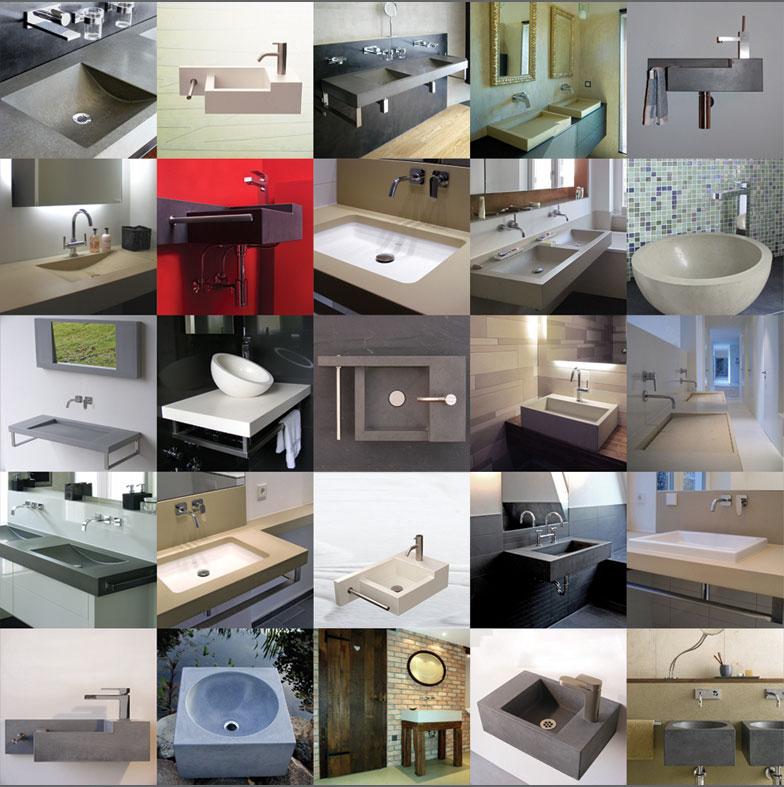 OGGI-Beton: Waschtische