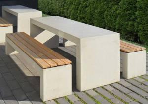 OGGI-Beton: Betontisch und Bank San Vito