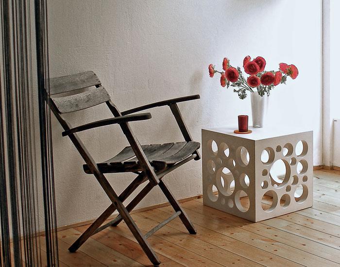 OGGI-Beton: Sitzwürfel CHEESE