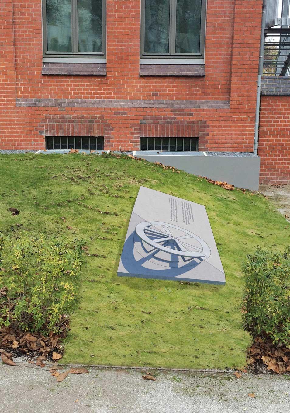 OGGI-Beton: BetonlautsprecherOGGI-Beton: Gedenkskulptur für die Roma und Sinti, die Opfer des nationalsozialistischen Völkermordes wurden, Gedenkstätte Ahlem, Hannover
