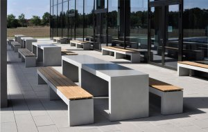OGGI-Beton: Betonmöbel Tisch und Bank