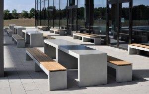 OGGI-Beton: Tisch und Bank