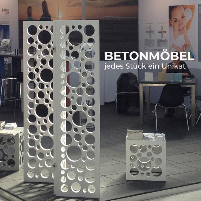 OGGI-Beton: Betonmöbel - jedes Stück ein Unikat