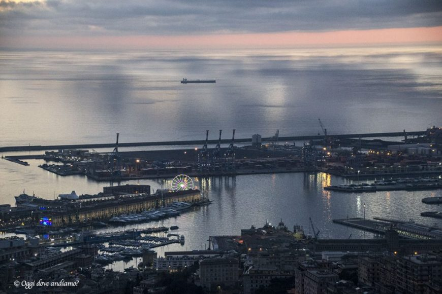 Panorama su Genova dal Righi