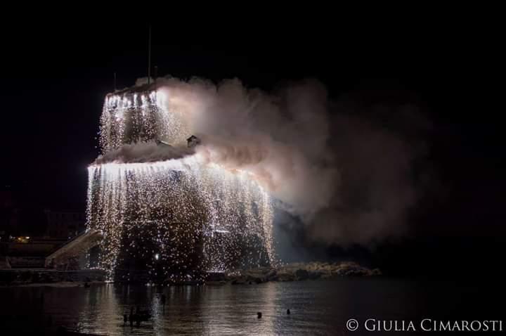 Incendio del castello di Rapallo