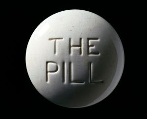 http://commons.wikimedia.org/wiki/File:Model_of_a_contraceptive_pill,_Europe,_c._1970_Wellcome_L0059976.jpg