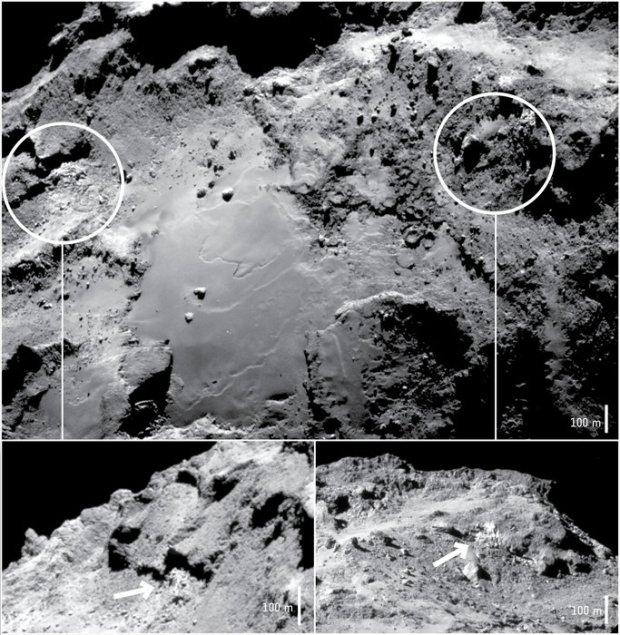 rosetta ghiaccio cometa