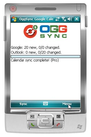 OggSync Windows Mobile to Google Direct Sync