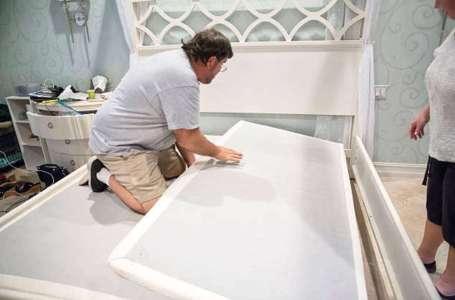 床架內放木板