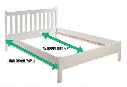 正確量床架尺寸的位置