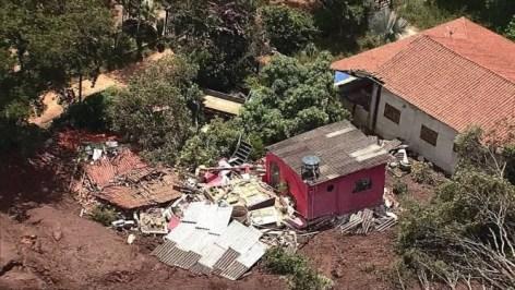 PA - Brumadinho (MG), 25/01/2019, Rompimento de barragem em Brumadinho - Barragem da Vale se rompe em Brumadinho, na região metropolitana de Belo Horizonte. Foto: Reprodução / Agência O Globo